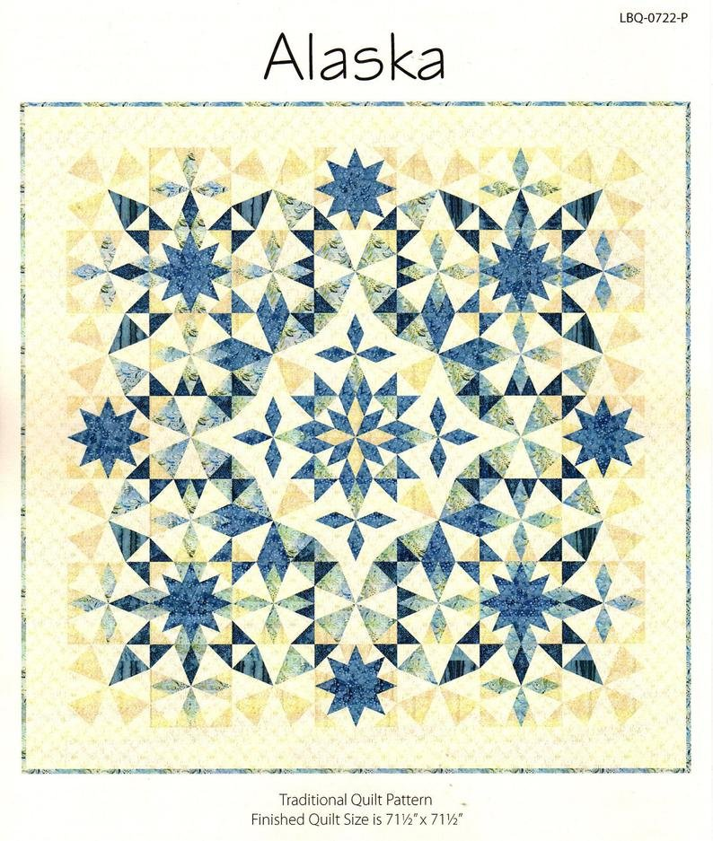 Alaska Quilt kit by Laundry Basket Quilts with Moda's The Blues Fabric by Janet Clare #2