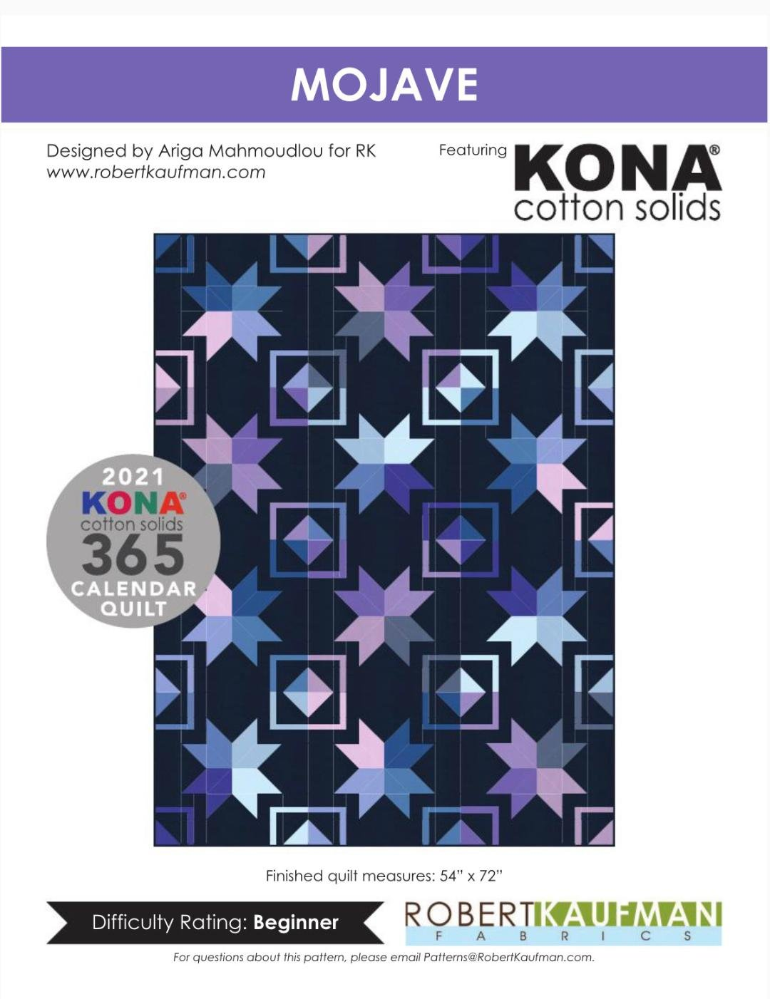 Kona Solids |  Mojave Quilt Kit