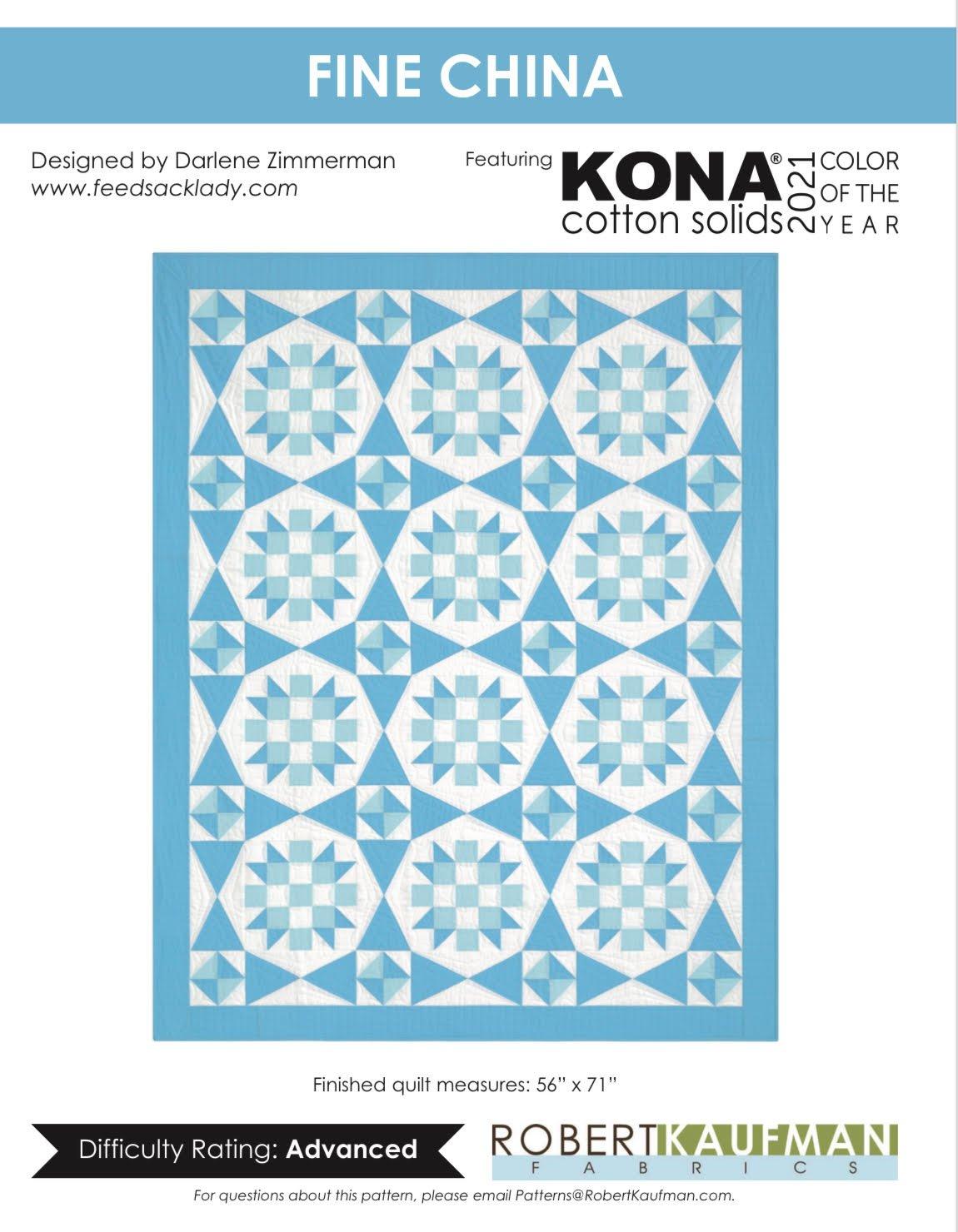 Kona Solid's Fine China Quilt Kit