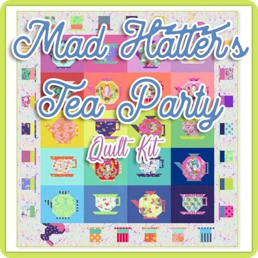 Coming in April!!  Tula Pink's Mad Hatter Quilt kit