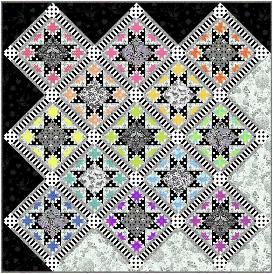 Tula Pink's Opening Night Quilt Kit featuring Linework and True Colors