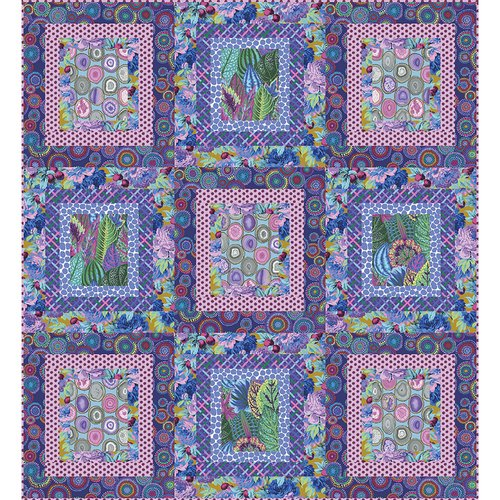 NEW!!    Purple Ripple Quilt Kit