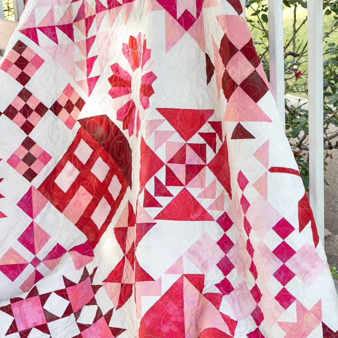 2020 Stitch Pink | MODA Grunge Sampler Quilt Kit