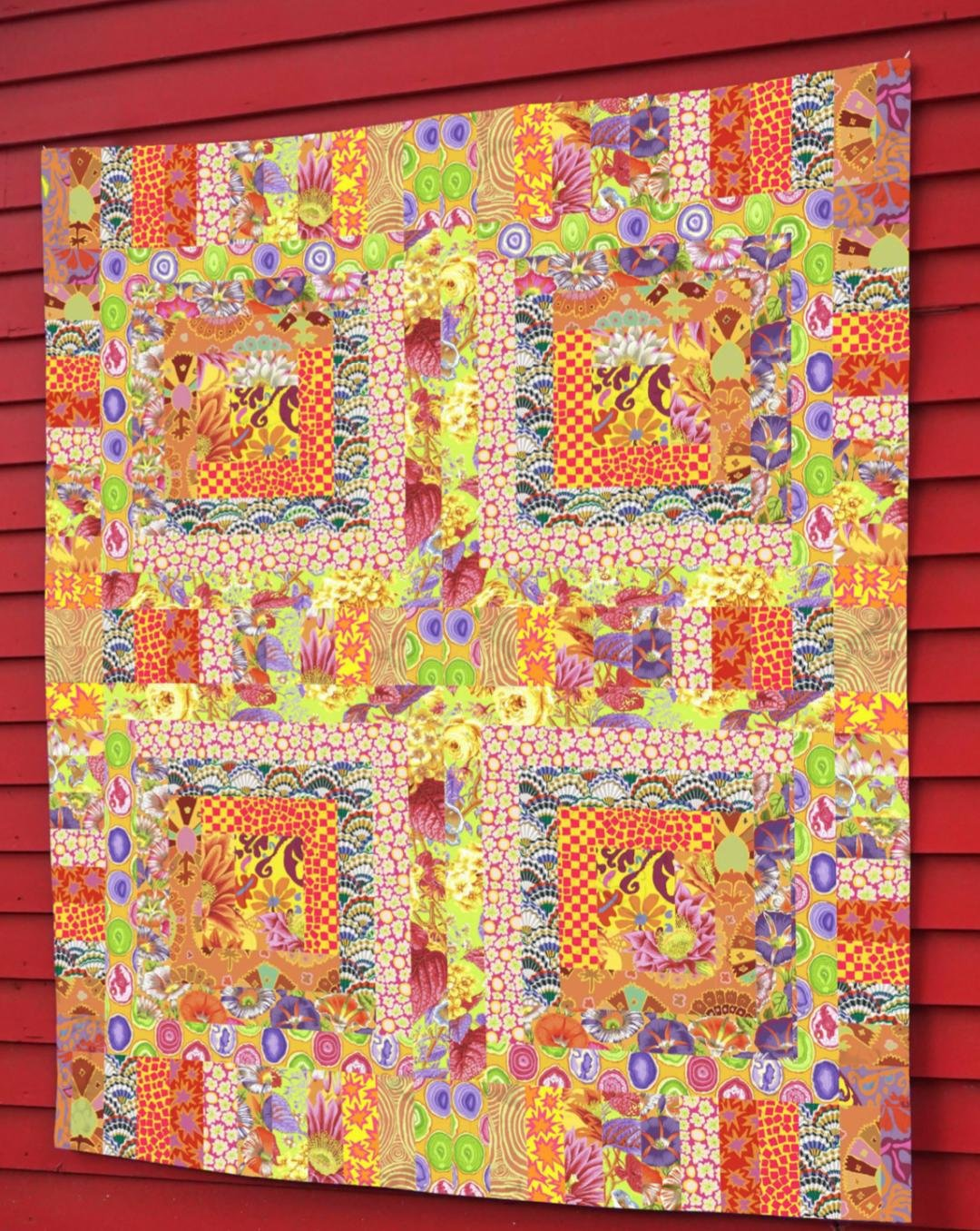 Kaffe Fassett Collective | Yellow Mosaic Quilt Kit