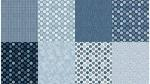 All a Twitter ~ Fat Quarter Panels: Blueberry Coordinates