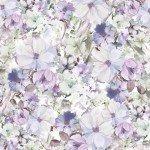 Blue/Violet Watercolor Floral 108in Wide Back