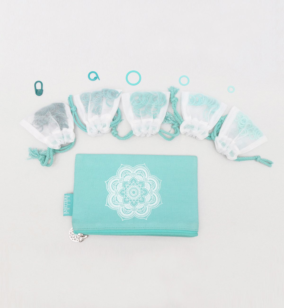 Mindful 100 Stitch Markers & Bag