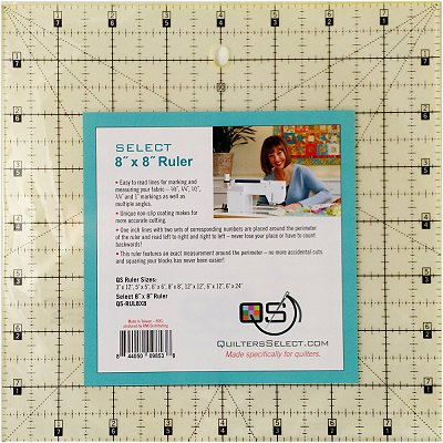 Quilter's Select2 x 8 Machine Quilting Ruler