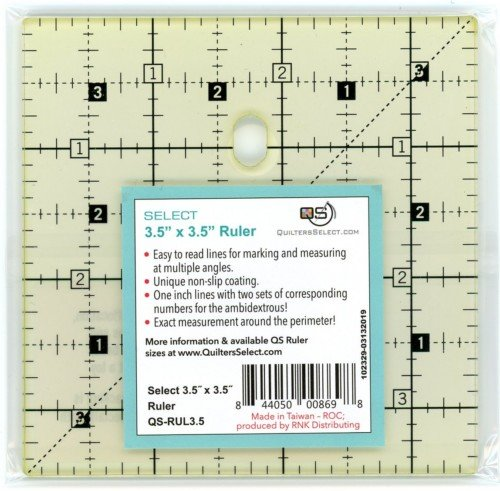 Quilters Select 3.5x3.5 Ruler