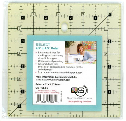 Quilters Select 4.5x4.5 Ruler