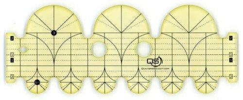Quilters Select Precision Machine Quilting Rulers / 3 & 1.5 Diameter Arcs