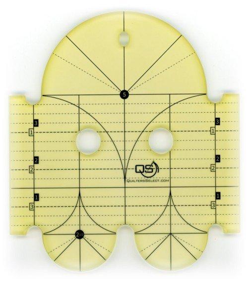 Quilters Select Precision Machine Quilting Rulers / 5 & 2.5 Diameter Arcs