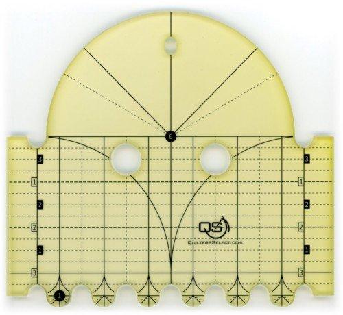 Quilters Select Precision Machine Quilting Rulers / 6 & 1 Diameter Arcs