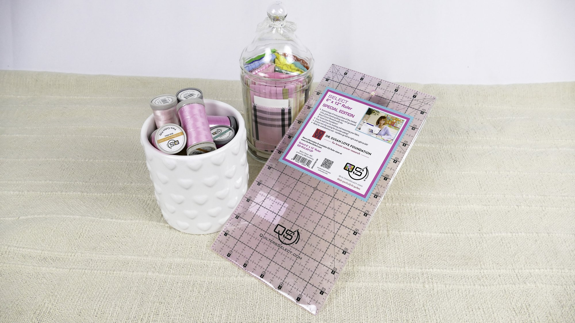 Quilters Select 6 x12 Ruler - Pink Limited Edition - QS-RUL6X12P