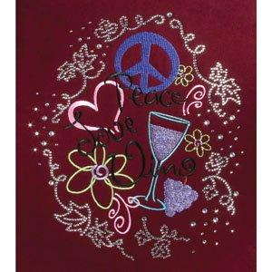 Peace Love Vino BLING
