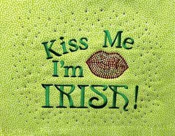 Kiss Me I'm Irish  BLING