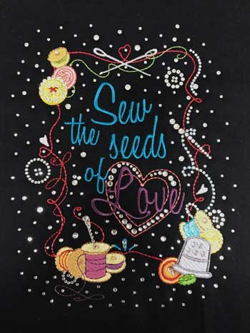 Sew Seeds of Love BLING