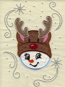 Reindeer Snowgirl BLING