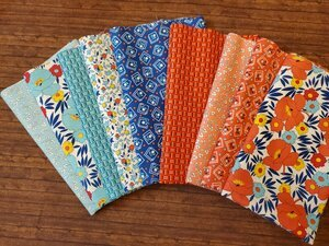 Harlow - a 30's Reproduction Pack by Quilting Treasures - 9 Piece Half Yard Bundle Pack