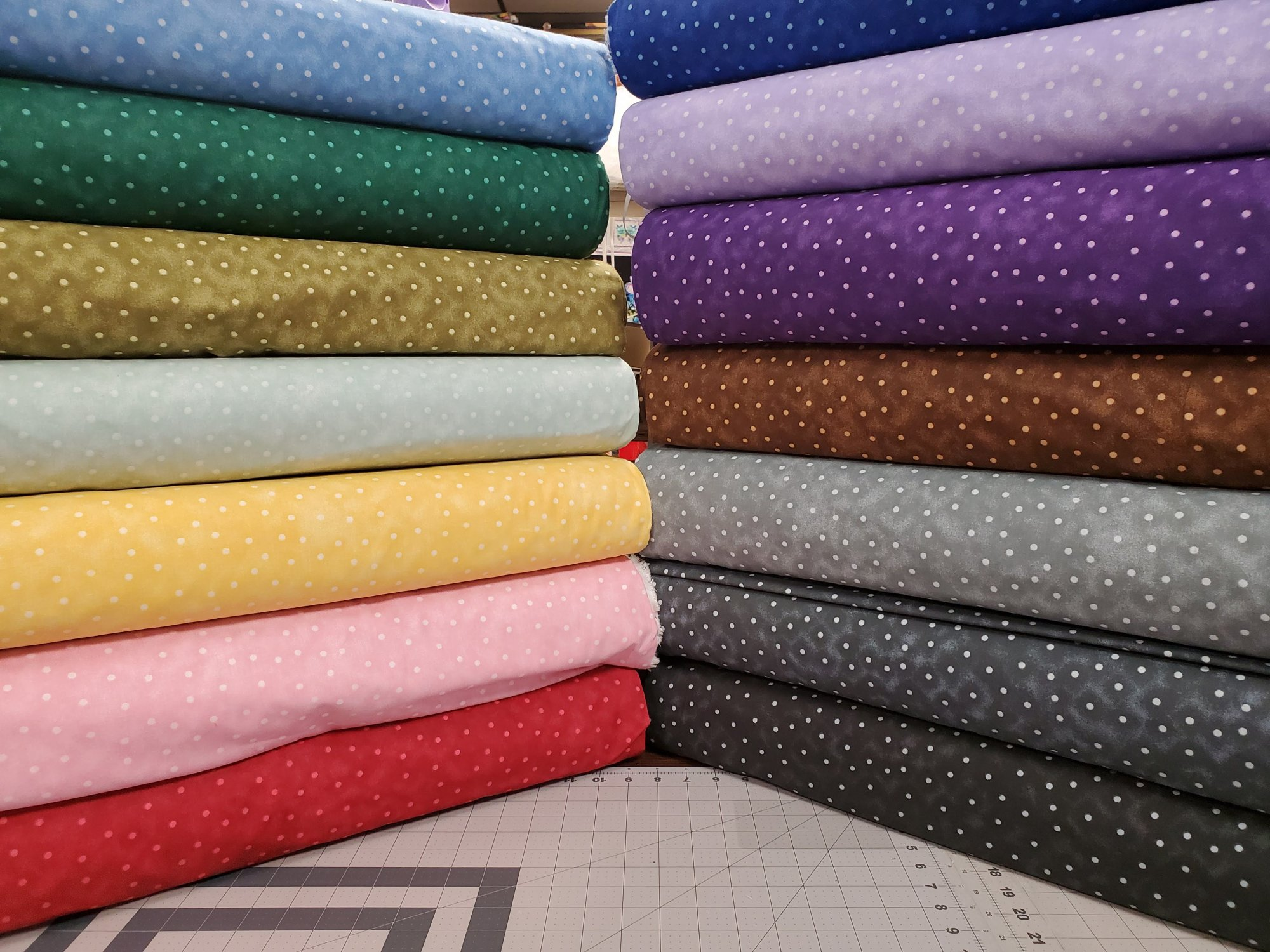 All Varieties of Blender Dots 108 Wide Backing Fabric
