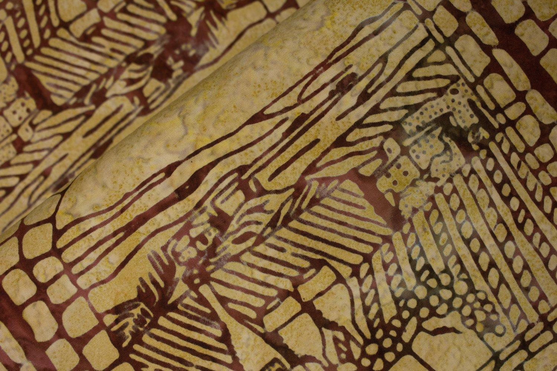 Vineyard Window Burgundy on Tan:  Vino - Banyan Batiks by Northcott