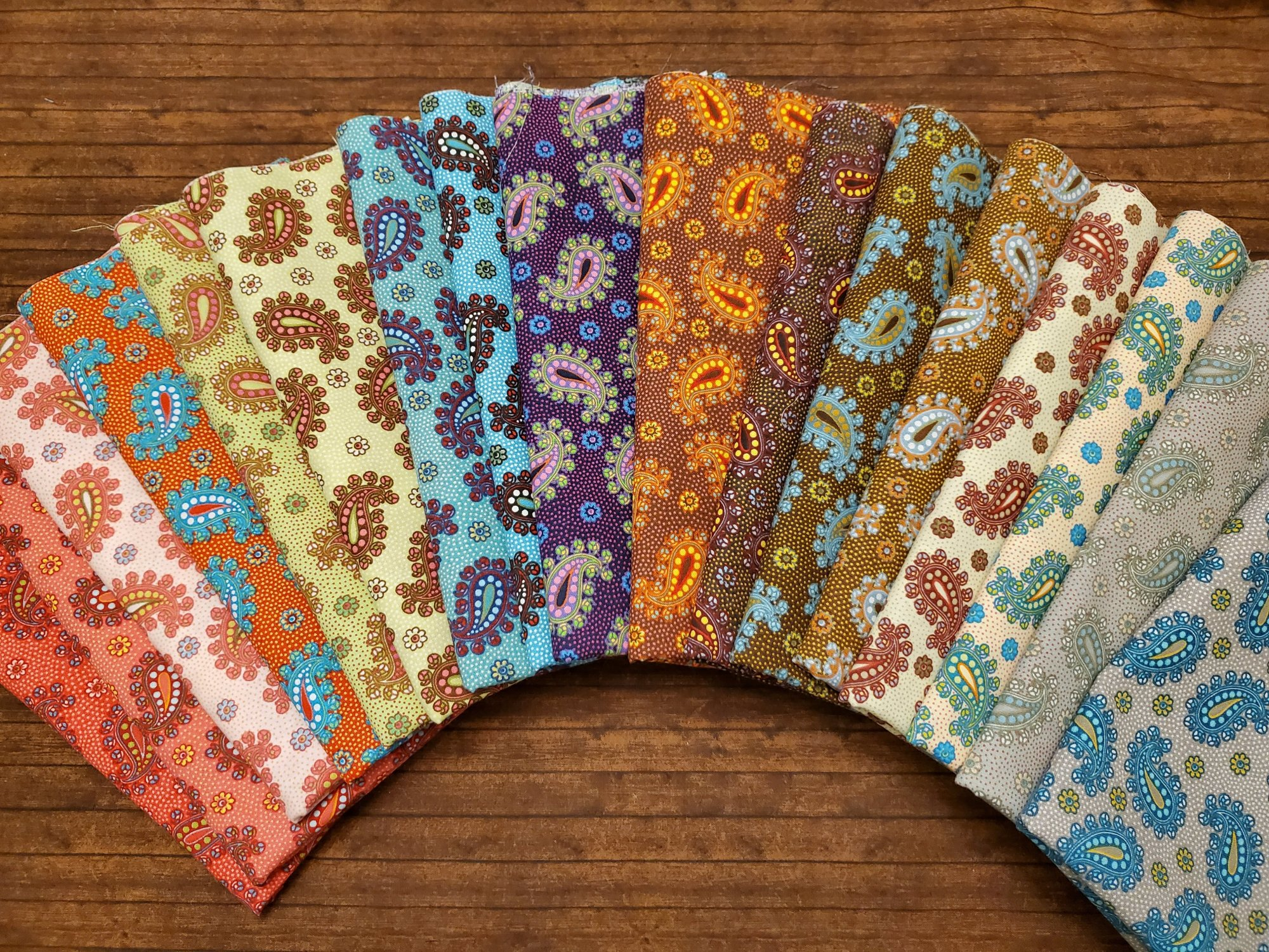 Perky Paisley - Rachael's Picks - 17 Piece Half Yard Bundle Pack