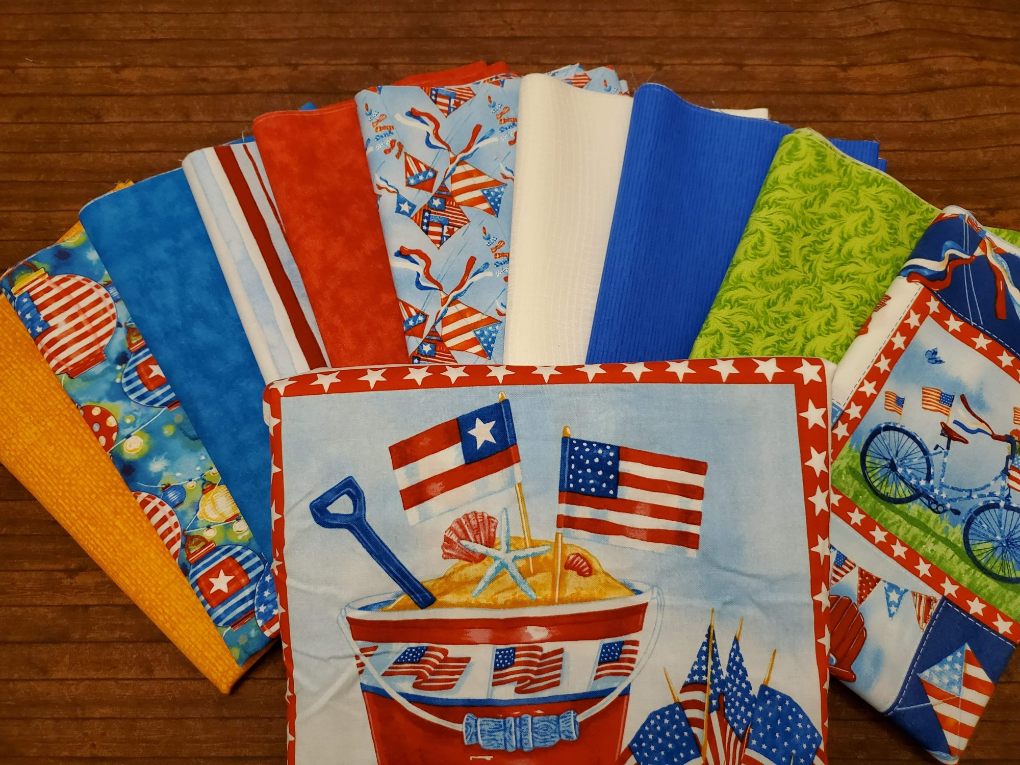 Star Spangled Summer by Andrea Tachiera for Henry Glass - 10 Piece Half Yard Bundle Pack