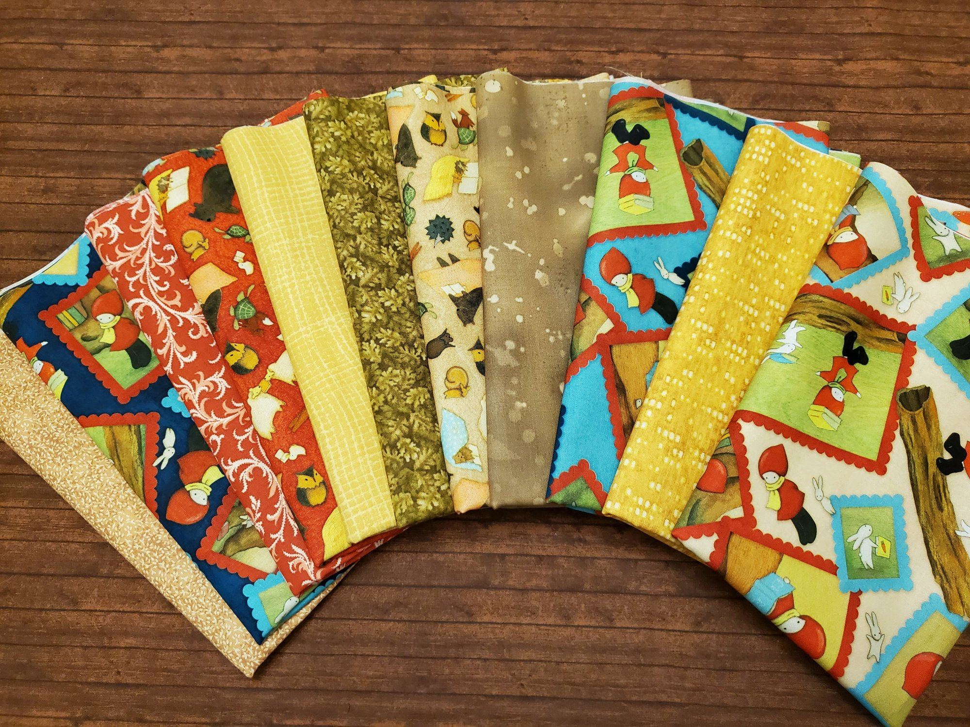Reading Together by Santori for Quilting Treasures and others - 11 Piece Half Yard Bundle Pack