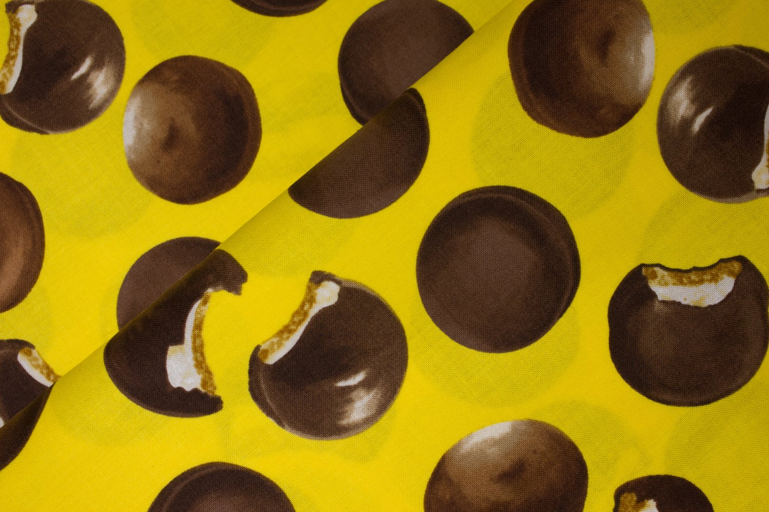 Moon PIes on Yellow:  Snack Attack by Maria Kalinowski for Kanvas Studio in association with Benartex