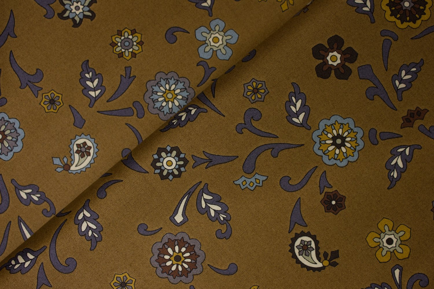 Floral Medallions on Brown by Suite 1500 for Andover Fabrics