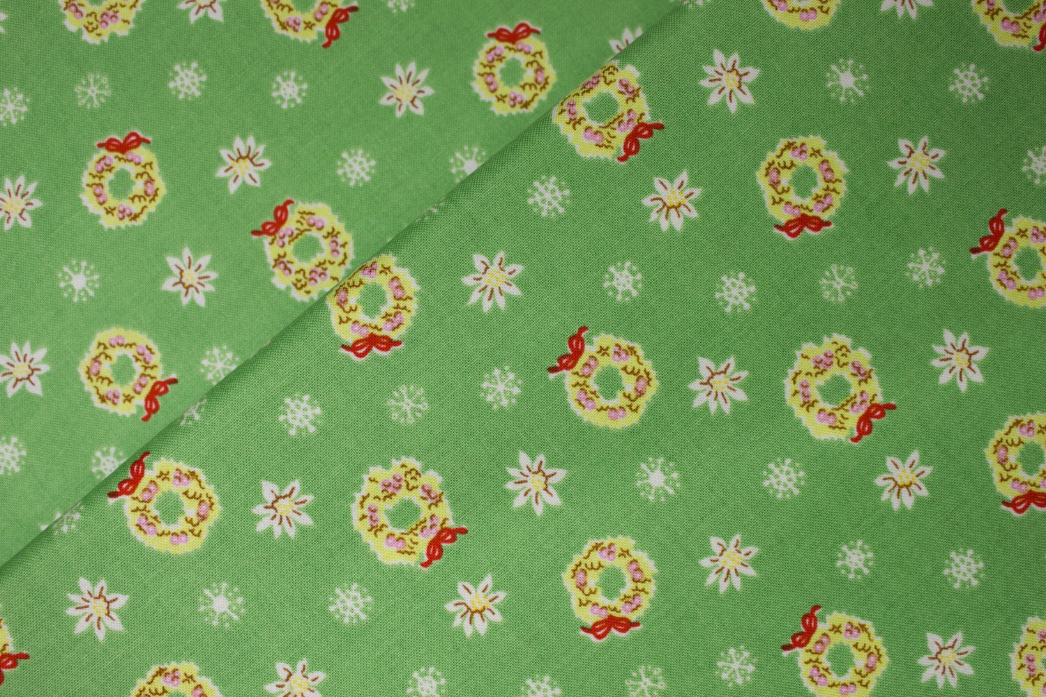 Wreaths on Green:  Little Joys by Elea Lutz for Penny Rose Fabrics
