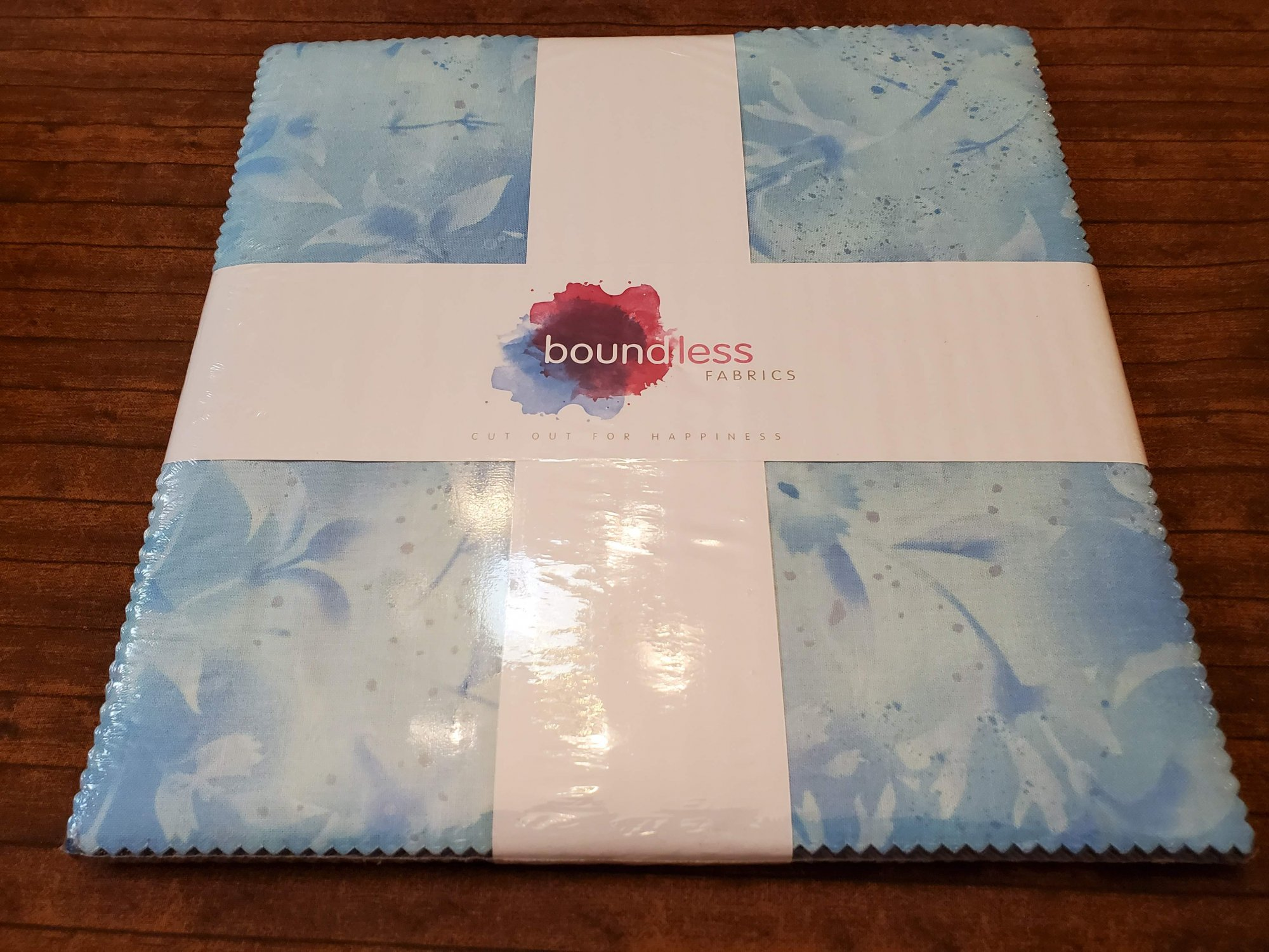 Light Blue Hydrangea - 10 Squares - 40 to 42 pieces by Boundless Fabrics