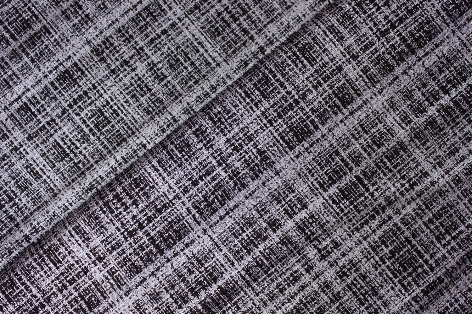 Black and Silver Metallic Plaid:  Refinery by Studio E