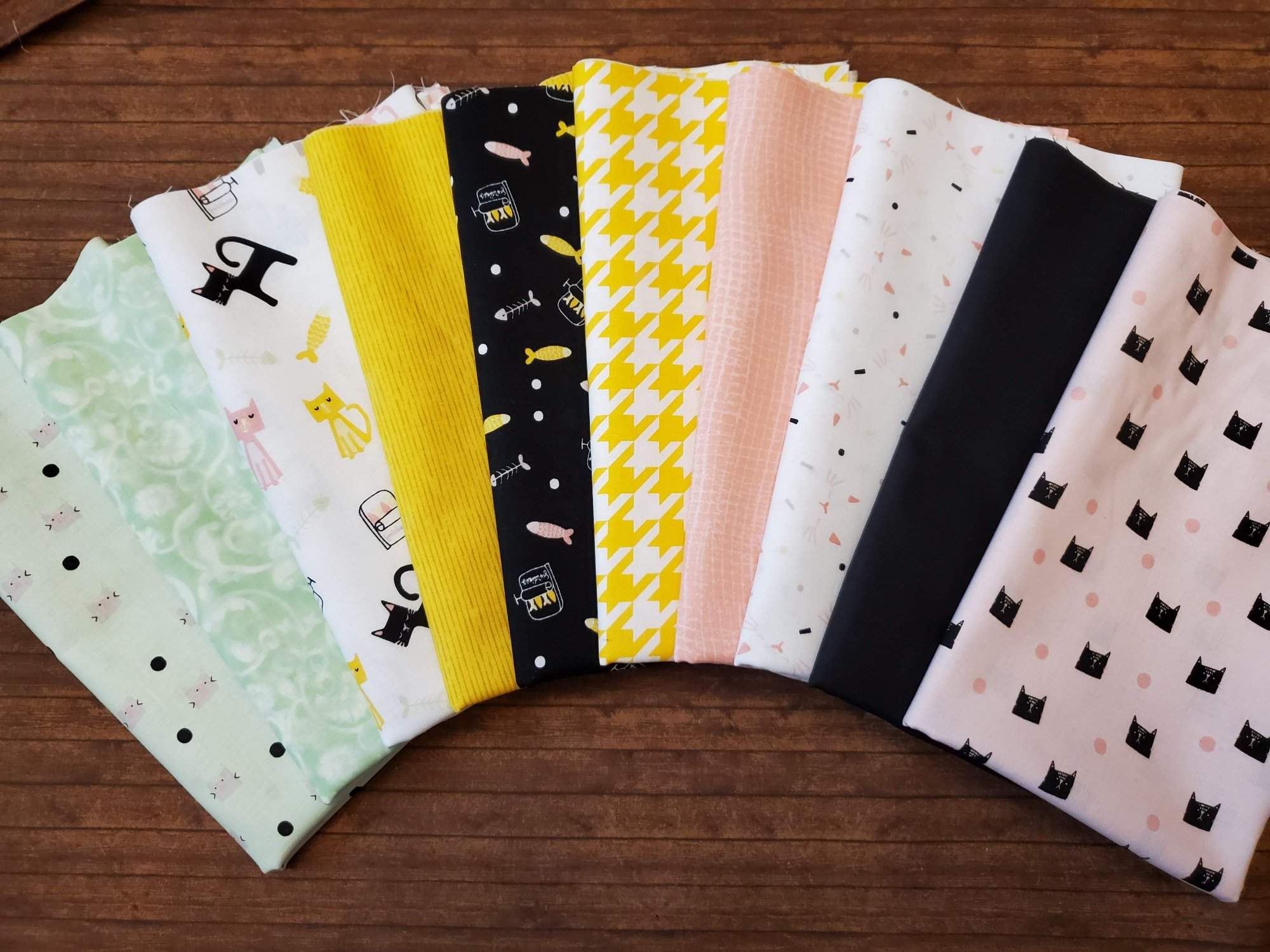 Meow and Forever - 10 piece half yard bundle - by My Mind's Eye for Riley Blake