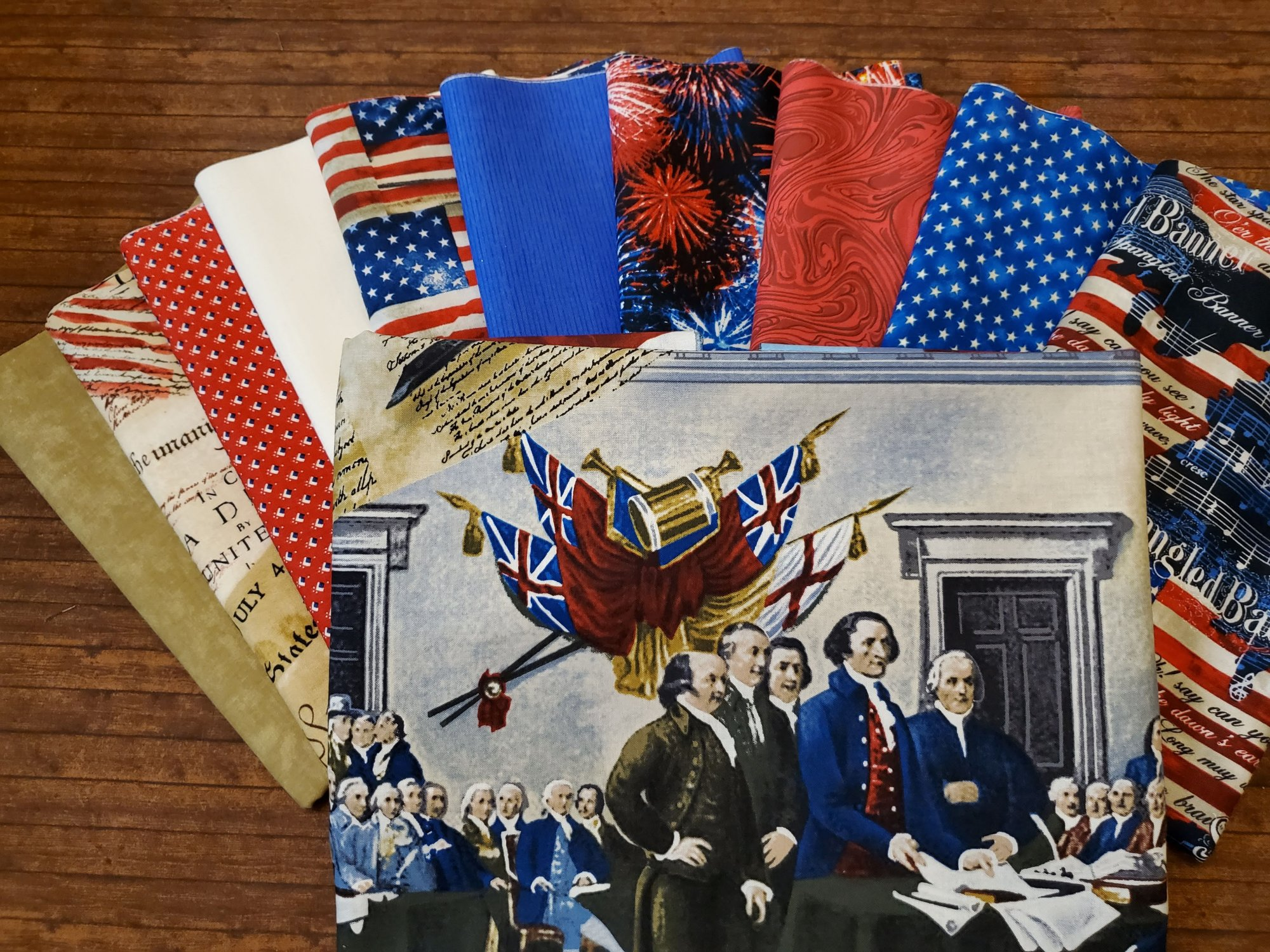 We the People - 10 Piece Half Yards + Panel - by Timeless Treasures