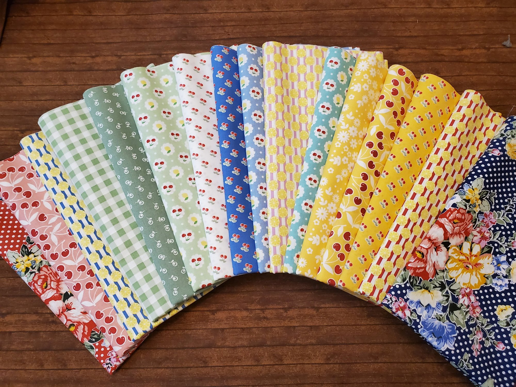 Cherry Lemonade by Jason Yenter for In the Beginning Fabrics - 16 Piece Half Yard Bundle Pack