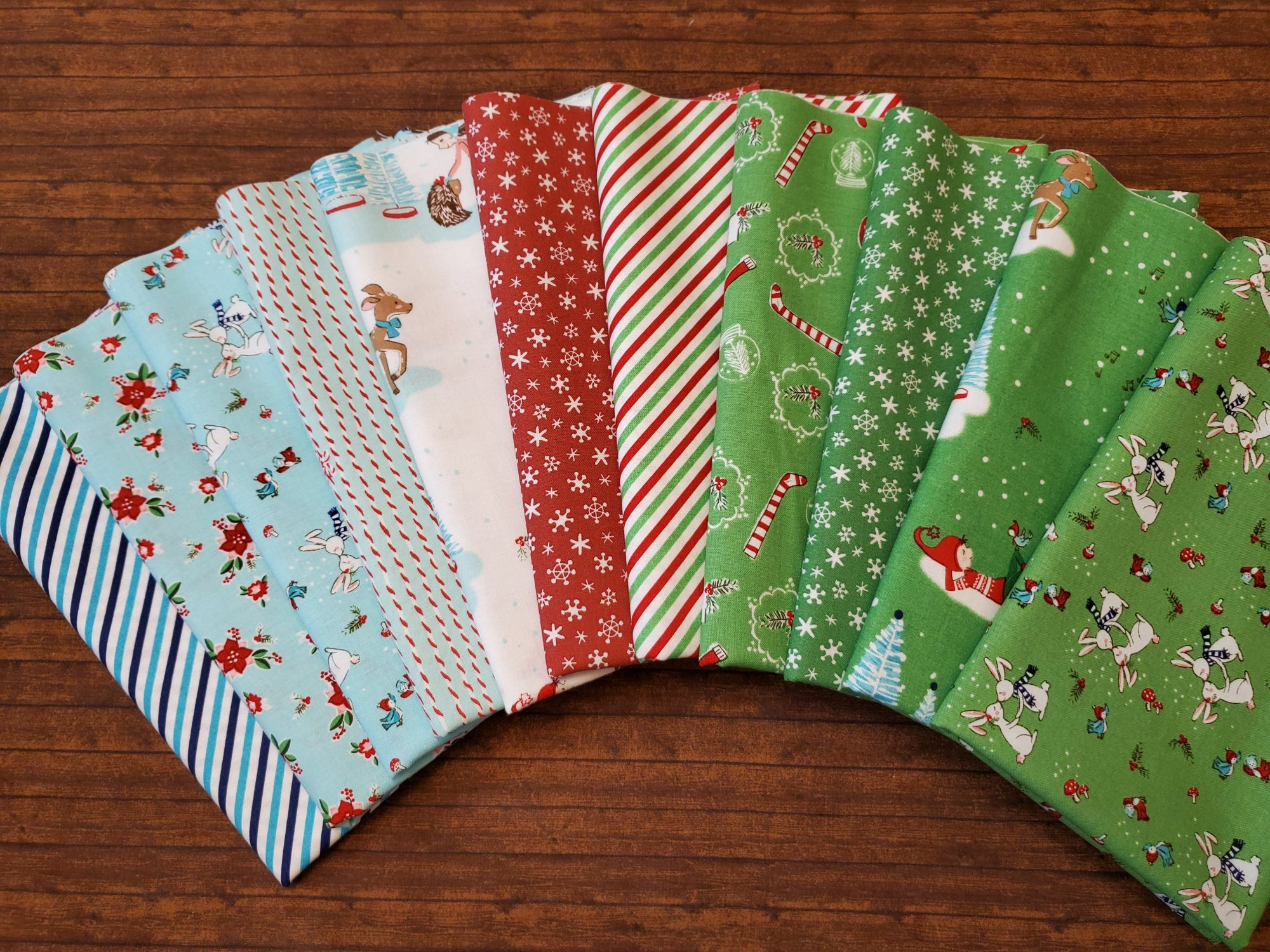 Pixie Noel by Tasha Noel for Riley Blake Fabrics - 11 piece Half Yard Bundle Pack