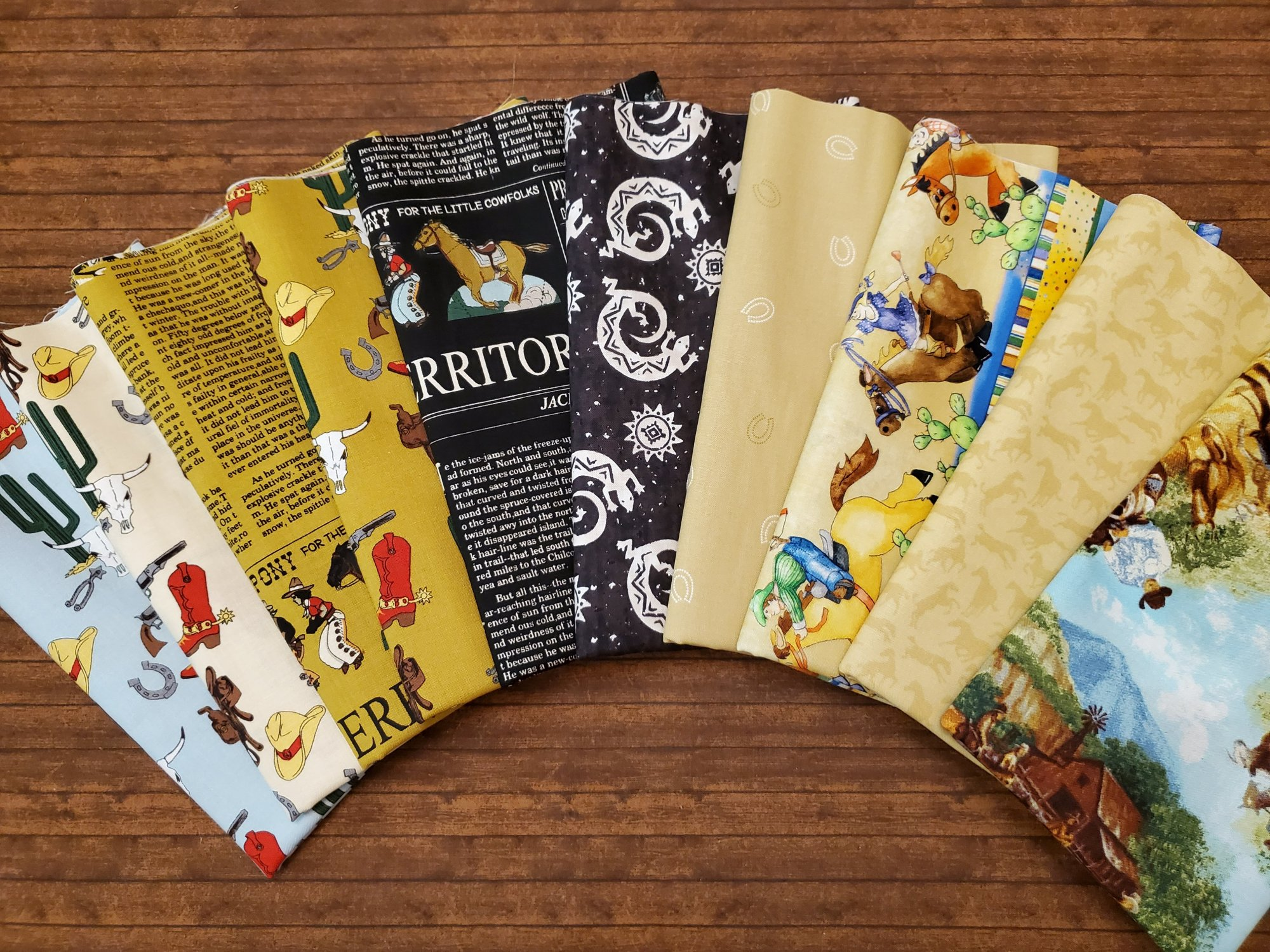 Cowboy Country - by Riley Blake and others - 10 Piece Half Yard Bundle Pack