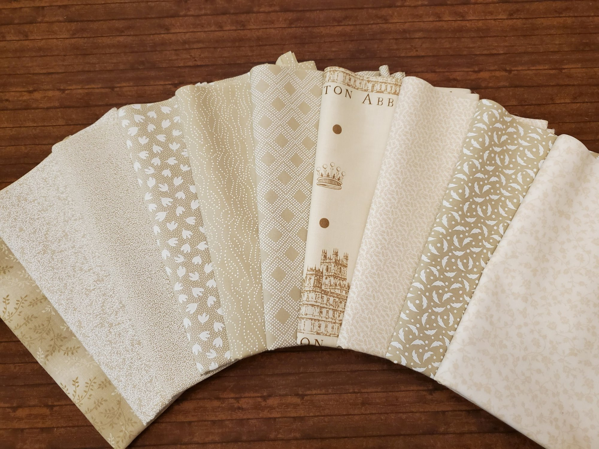 Mixed Tea Stains and Tans -  10 Piece Half Yard Bundle Pack