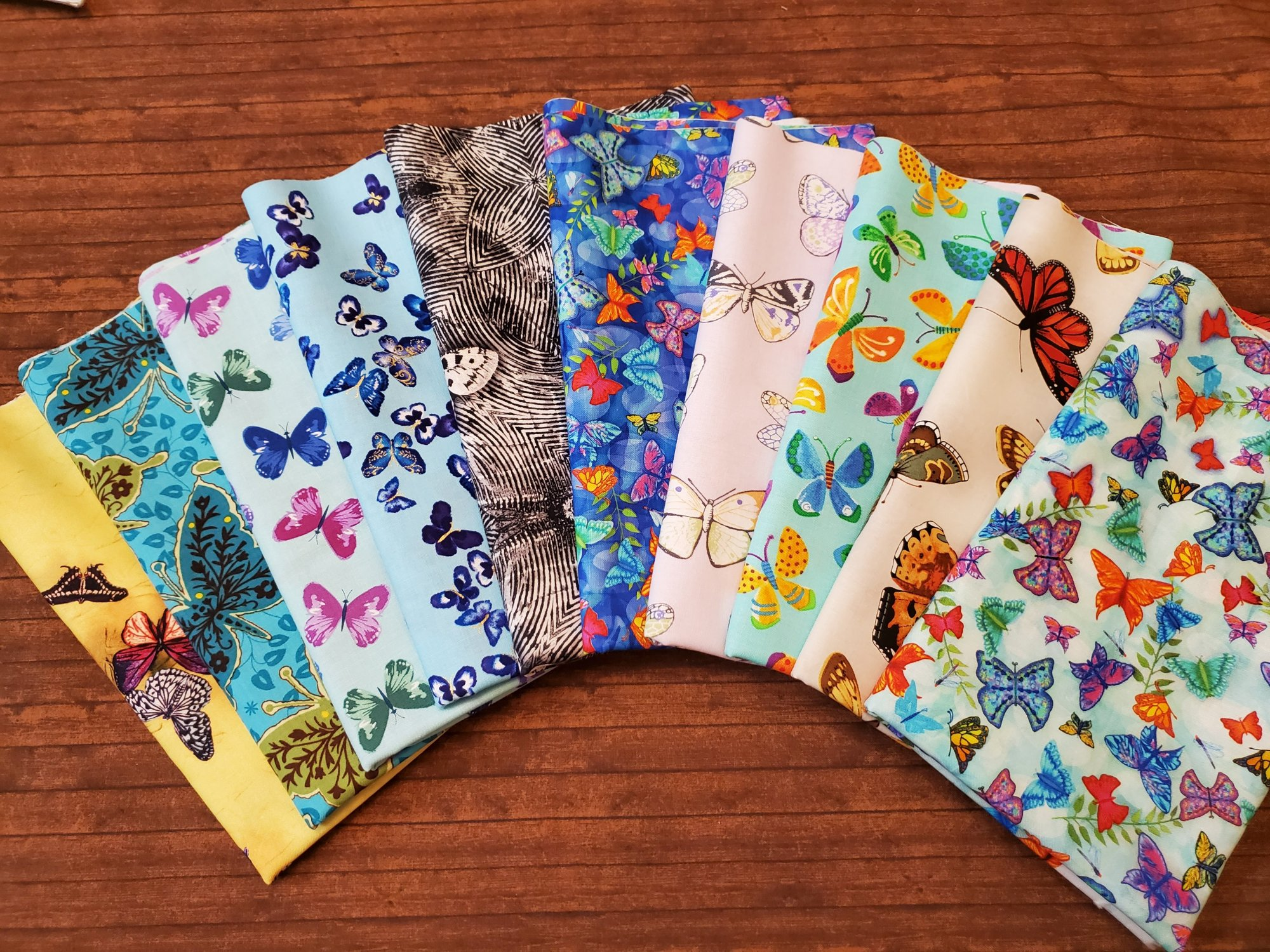 Butterflies - Various Manufacturers - 10 piece Half Yard Bundle Pack