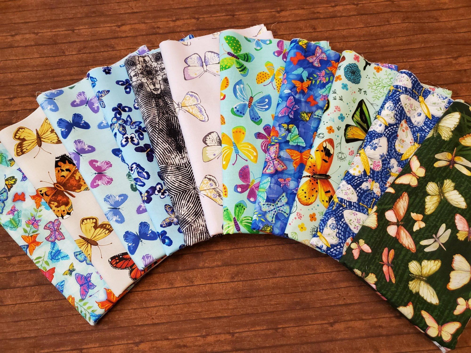 Butterflies in Flight - Various Manufacturers - 11 piece Half Yard Bundle Pack