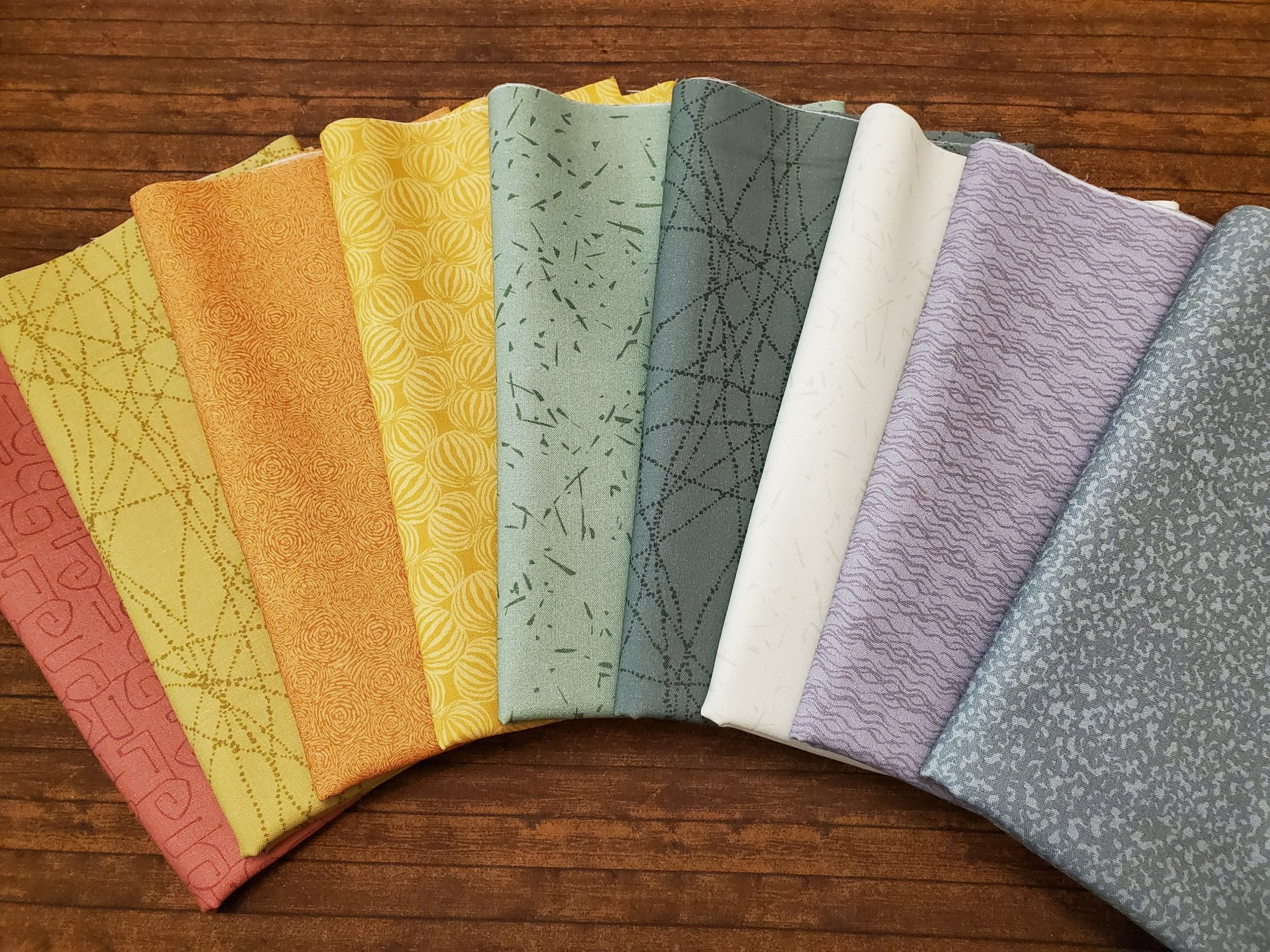 Composition in Color by Jane Dixon for Andover Fabrics - 9 piece Half Yard Bundle Pack
