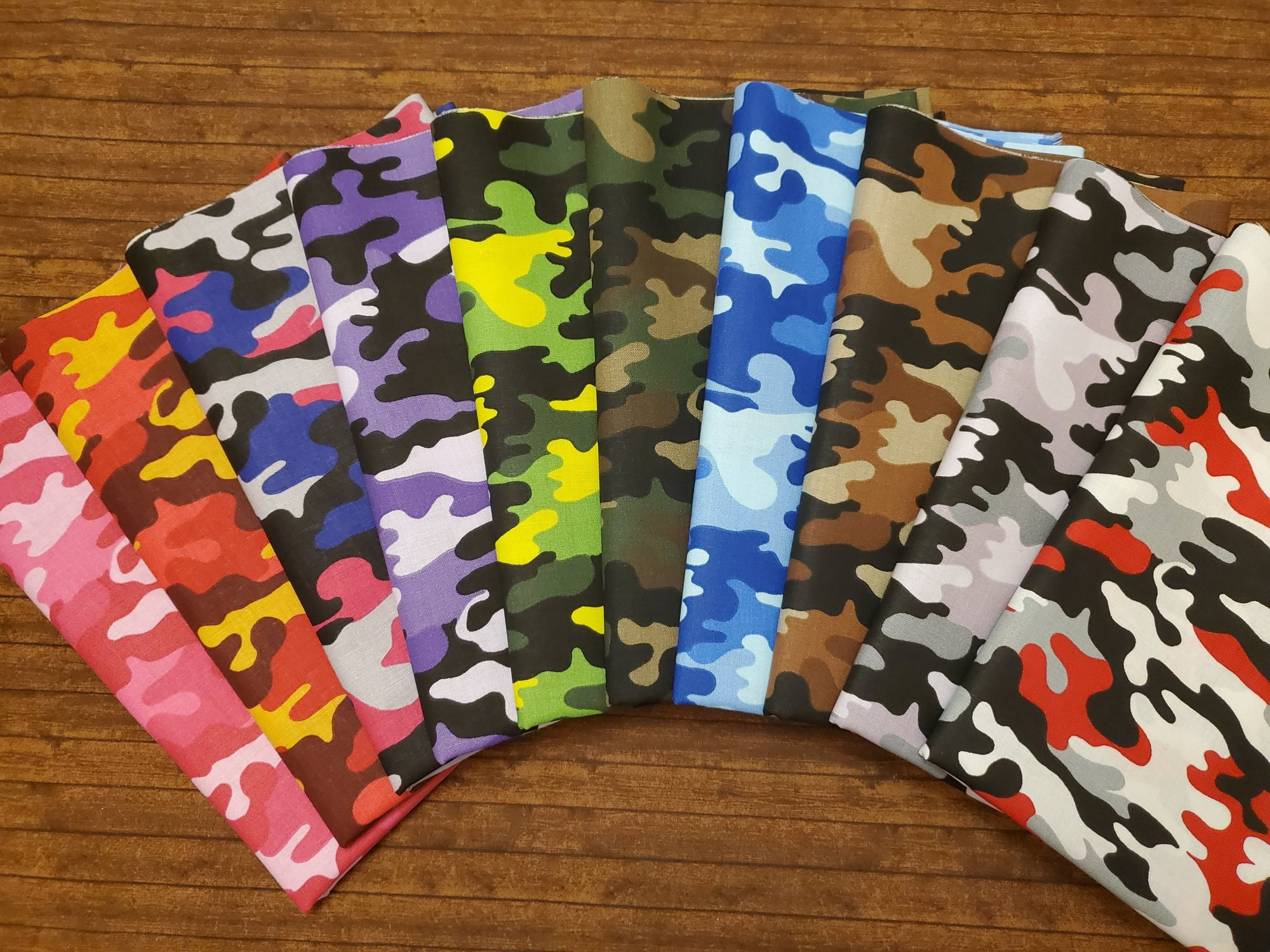 Cool Camo - Rachael's Picks - 10 Piece FULL yard bundle pack