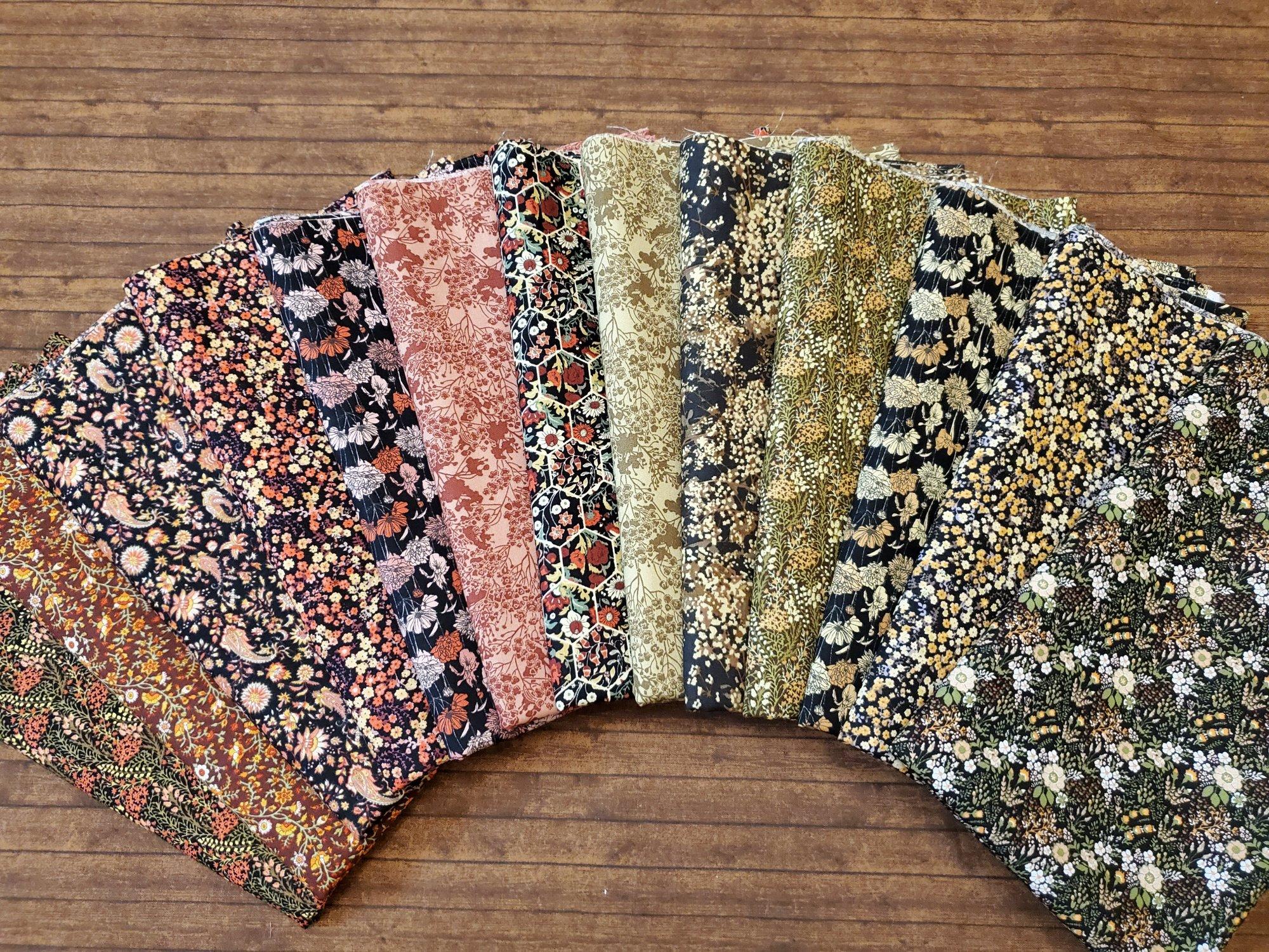 Garden Delights in Warm Colors by Gray Sky Studios for In the Beginning Fabrics - 13 Piece Half Yard Bundle Pack