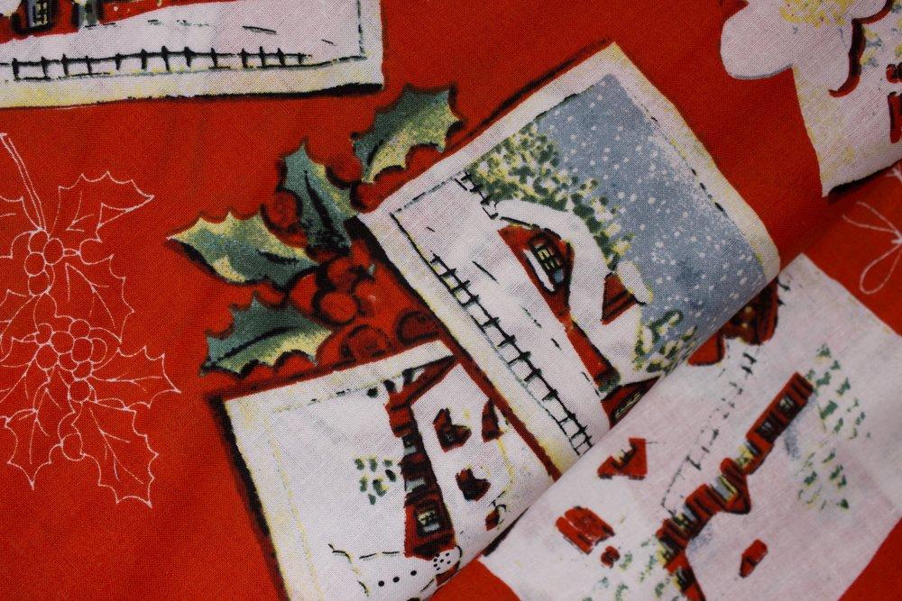 Christmas Postcards on Red