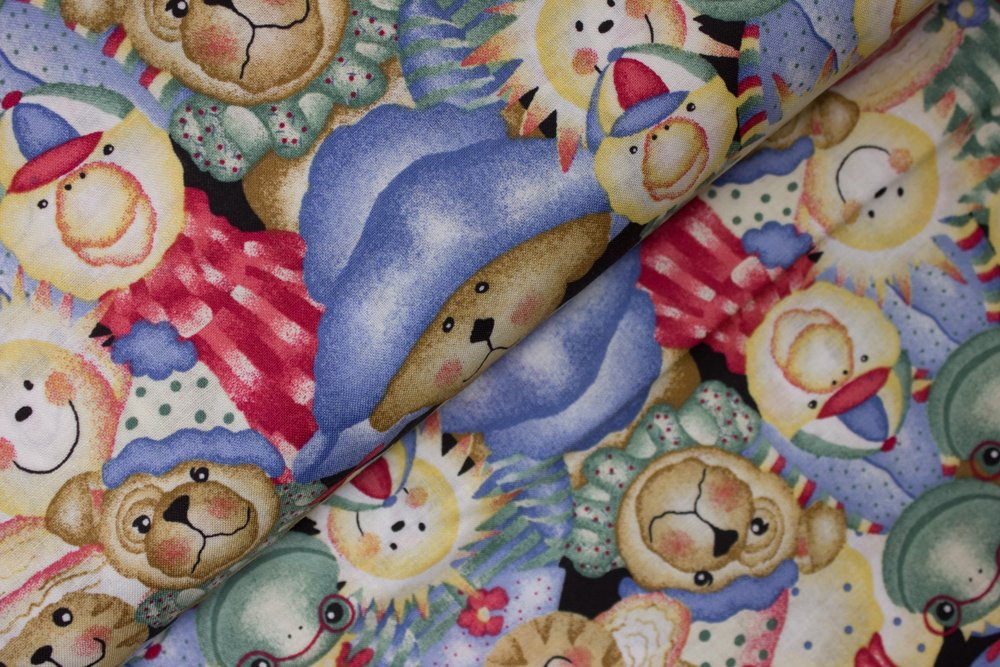 Toy Animal Class Packed Allover by Concord Prints