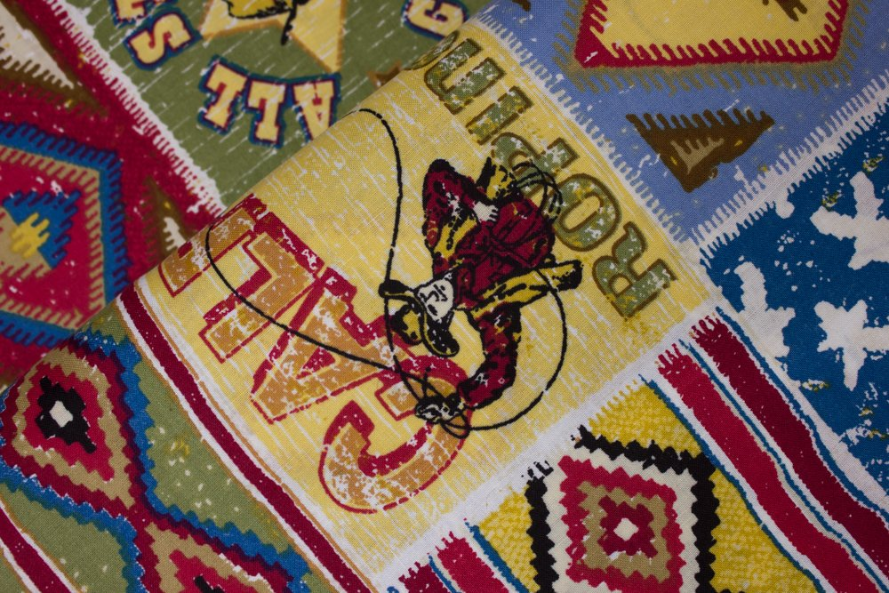 All Star Rodeo - Bucking Broncos, Indian Blankets and Rodeo:  Southwest Rodeo Patch