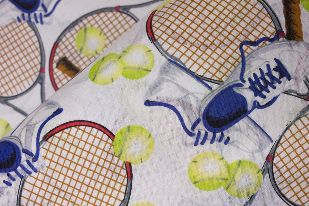 Tennis Shoes, Tennis Rackets, and Tennis Balls on White:  Match Point Tennis by Concord House