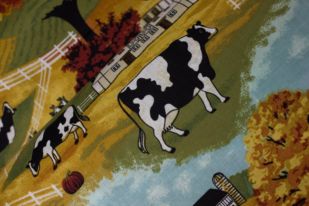 Autumn Farm Scene with Cows, Barns, and Fall Foliage:  The Farm by Concord House