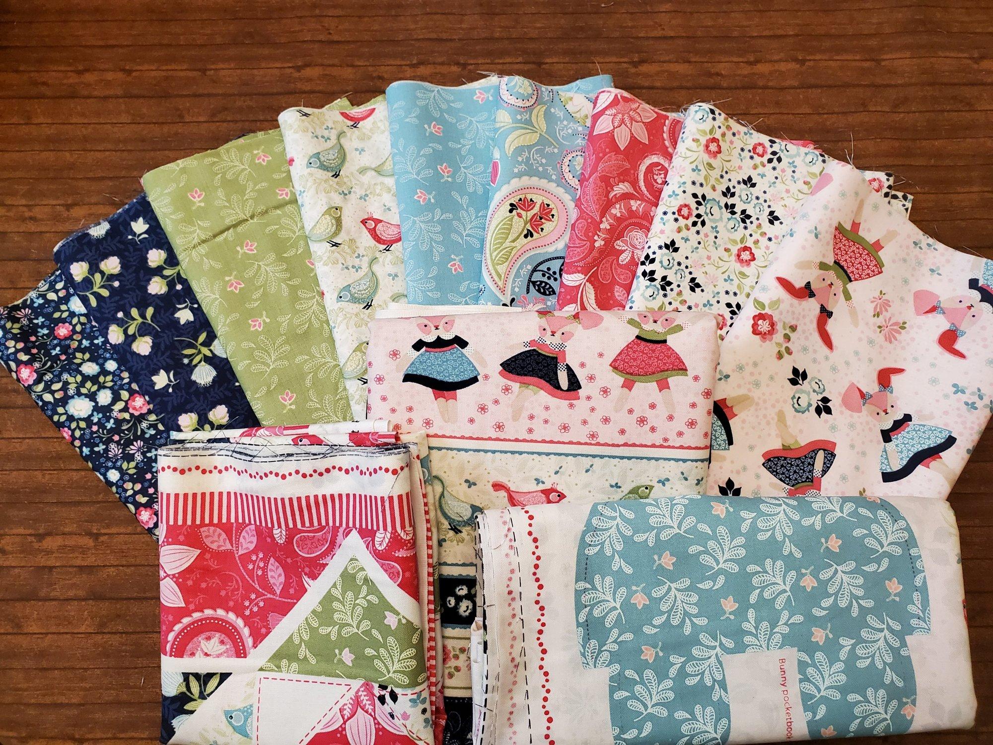 Boho Blooms by Nancy Archer for Studio E Fabrics - 9 half yards plus 2 yard Stripe plus 2 panels Bundle Pack